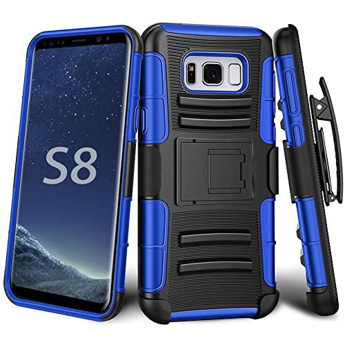 Samsung Galaxy S8 protect Belt Clip Holster Case Cover Blue