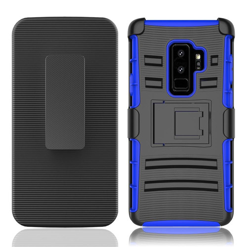 Samsung Galaxy S9 Plus protect Belt Clip Holster Case Cover Blue