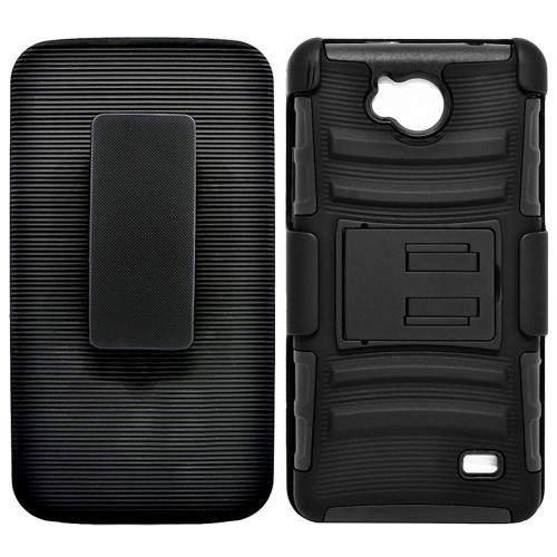 Zte Tempo / N9131 protect Belt Clip Holster Case Cover Black