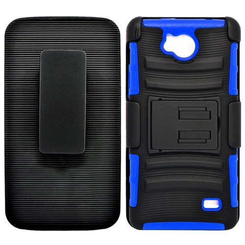 Zte Tempo / N9131 protect Belt Clip Holster Case Cover Blue