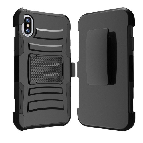 Iphone X / 10 protect Belt Clip Holster Case Cover Black