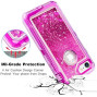 Apple Iphone 8 / Iphone 7 Tough Defender Sparkling Liquid Glitter Heart Case With Transparent Holster Clip Hot Pink