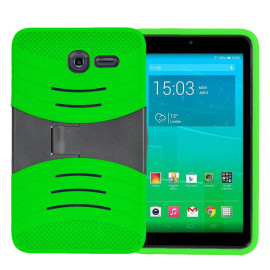Alcatel Onetouch Pixi 7 Hybrid Silicone Case Cover Stand Green