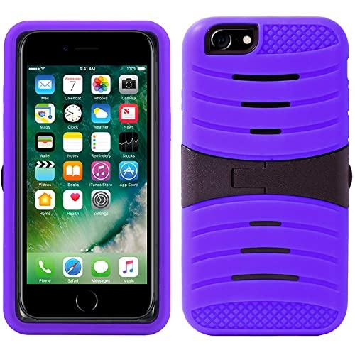 Iphone 8 / 7 Hybrid Silicone Case Cover Stand Purple