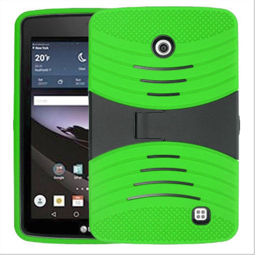 Lg G Pad F 7.0 Hybrid Silicone Case Cover Stand Green