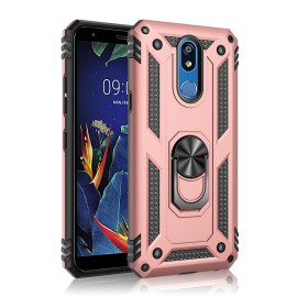 For Lg Stylo 5 / Stylo 5 Plus Brushed protect Shockproof Hybrid Ring Stand Case Cover