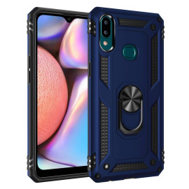 Samsung Galaxy A10S 360 Rotating Metal Ring Holder Kickstand Magnetic Car Mount Protective Case Cover Blue