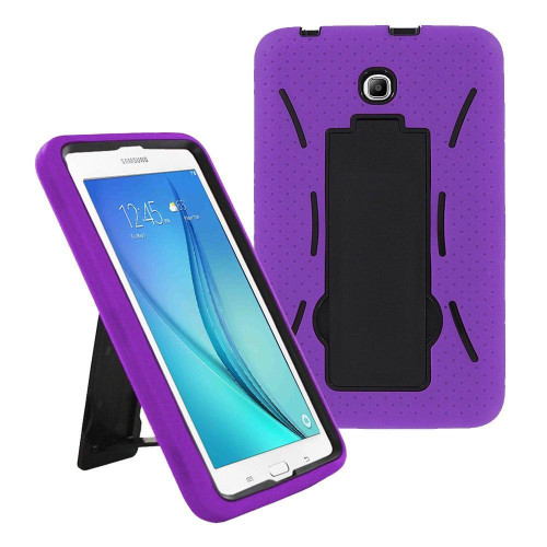 Samsung Galaxy Tab A 8.0 / T350 / T355 Hybrid Silicone Case Cover Stand Purple