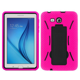 Samsung Galaxy Tab E Lite 7.0 Hybrid Silicone Case Cover Stand Pink