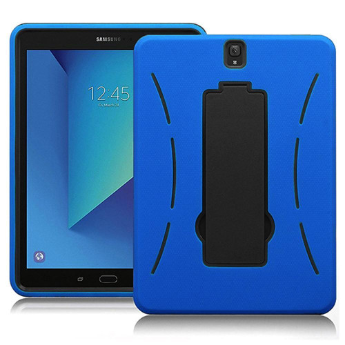 Samsung Galaxy Tab S3 9.7 / T820 / T825 Hybrid Silicone Case Cover Stand Blue