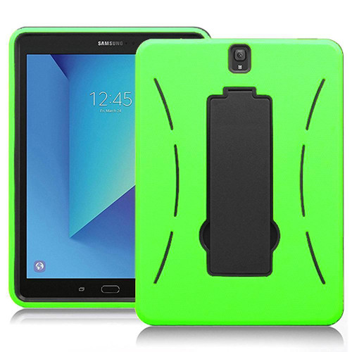 Samsung Galaxy Tab S3 9.7 / T820 / T825 Hybrid Silicone Case Cover Stand Green