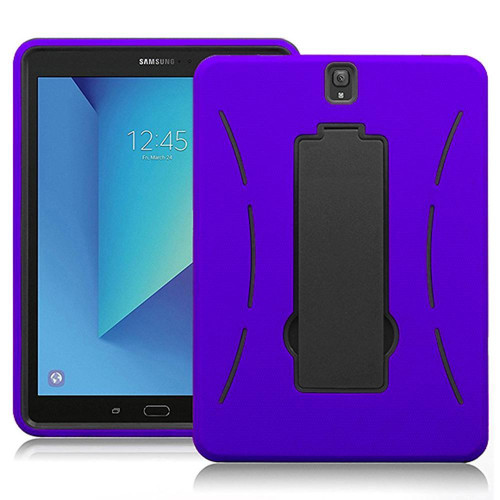 Samsung Galaxy Tab S3 9.7 / T820 / T825 Hybrid Silicone Case Cover Stand Purple