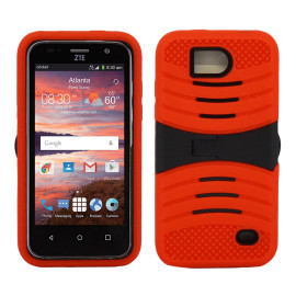 Zte Overture 2 / Z813 Hybrid Silicone Case Cover Stand Red