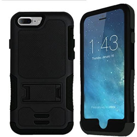 Iphone 8 / 7 Impact Silicone Case Dual Layer With Stand Black