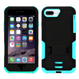 Iphone 8 Plus / 7 Plus Impact Silicone Case Dual Layer With Stand Teal