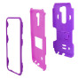 Lg G Stylo 2 / Stylus 2 / Ls775 Impact Silicone Case Dual Layer With Stand Purple Pink