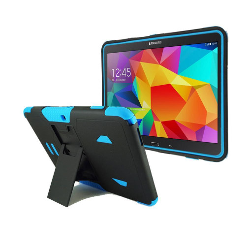 Samsung Galaxy Tab 4 10.1 / T530 Impact Silicone Case Dual Layer With Stand Blue