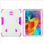 Samsung Galaxy Tab 4 10.1 / T530 Impact Silicone Case Dual Layer With Stand White Pink