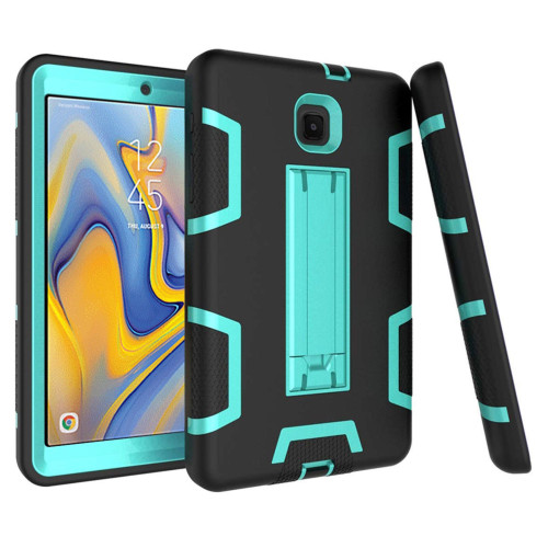 Samsung Galaxy Tab A 8.0 2018 / T387 Shockproof Duty Hard Stand Case Cover Black Teal