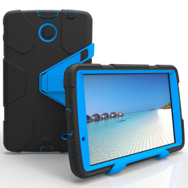 Lg G Pad F 8.0 / G Pad 2 8.0 Shockproof Duty Hard Stand Case Cover Black Blue