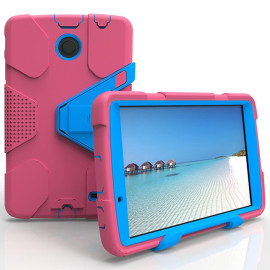 Lg G Pad F 8.0 / G Pad 2 8.0 Shockproof Duty Hard Stand Case Cover Pink Blue