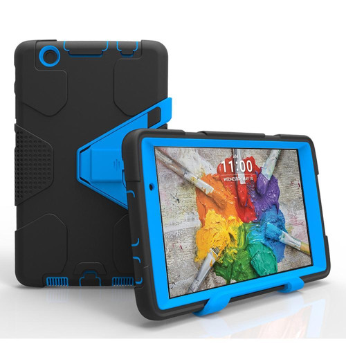 Lg G Pad 3 8.0 / G Pad X 8.0 Shockproof Duty Hard Stand Case Cover Black Blue
