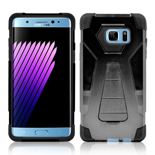 Samsung Galaxy Note 7 / N930 Hybrid Stand Case Cover Black