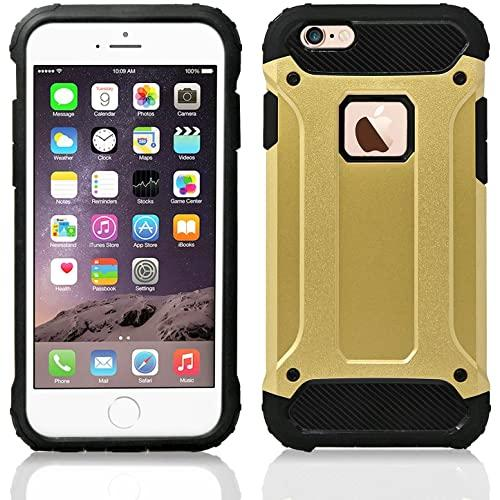 Iphone 6 / 6S protect Hybrid Dual Layer Shockproof Touch Case Cover Gold