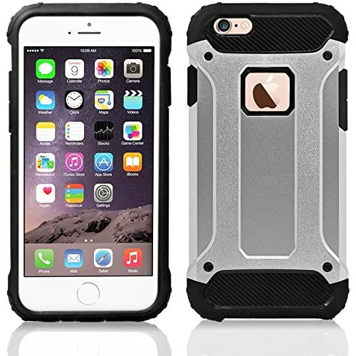 Iphone 6 / 6S protect Hybrid Dual Layer Shockproof Touch Case Cover Silver
