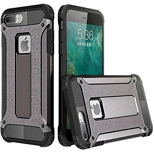 Iphone 8 Plus / 7 Plus protect Hybrid Dual Layer Shockproof Touch Case Cover Black
