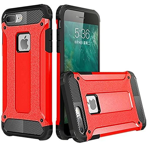 Iphone 8 Plus / 7 Plus protect Hybrid Dual Layer Shockproof Touch Case Cover Red