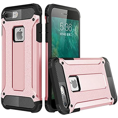 Iphone 8 Plus / 7 Plus protect Hybrid Dual Layer Shockproof Touch Case Cover Rose Gold