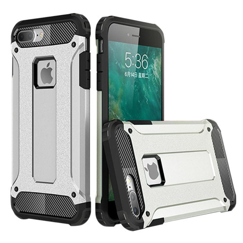 Iphone 8 / 7 protect Hybrid Dual Layer Shockproof Touch Case Cover Silver