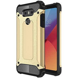 Lg G6 protect Hybrid Dual Layer Shockproof Touch Case Cover Gold