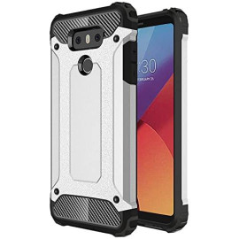 Lg G6 protect Hybrid Dual Layer Shockproof Touch Case Cover Silver