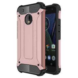 Motorola Moto G 5 Plus / Xt1687 protect Hybrid Dual Layer Shockproof Touch Case Cover Rose Gold