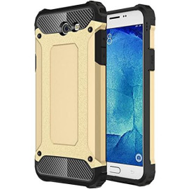 Samsung Galaxy On 7 2016 / J7 Prime / J7 2017 protect Hybrid Dual Layer Shockproof Touch Case Cover Gold
