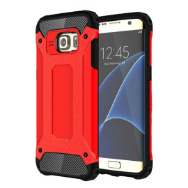 Samsung Galaxy S7 Edge protect Hybrid Dual Layer Shockproof Touch Case Cover Red