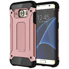 Samsung Galaxy S7 protect Hybrid Dual Layer Shockproof Touch Case Cover Pink