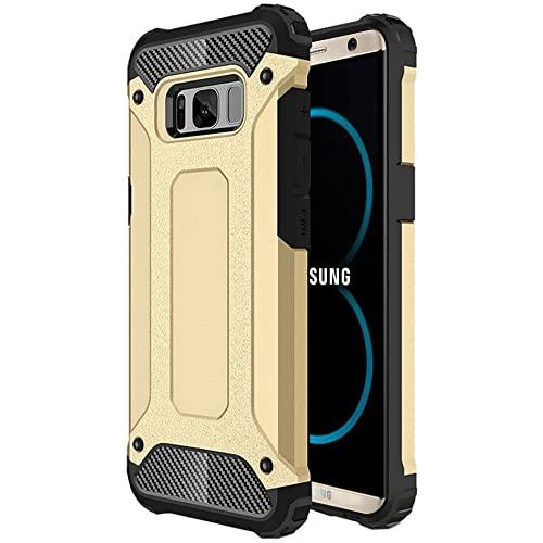 Samsung Galaxy S8 Plus protect Hybrid Dual Layer Shockproof Touch Case Cover Gold