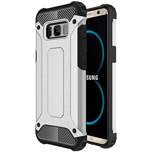 Samsung Galaxy S8 Plus protect Hybrid Dual Layer Shockproof Touch Case Cover Silver