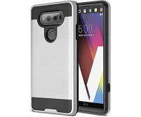 Lg V20 / Us996 Hybrid Metal Brushed Shockproof Tough Case Cover Silver