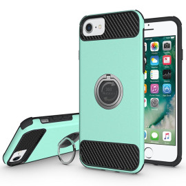 Apple Iphone 8 / 7 / 6S / 6 Shockproof Hybrid 360 Ring Stand Case Cover Teal