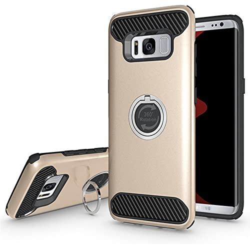 Samsung Galaxy S8 Shockproof Hybrid 360 Ring Stand Case Cover Gold