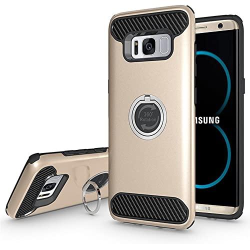 Samsung Galaxy S8 Plus Shockproof Hybrid 360 Ring Stand Case Cover Gold