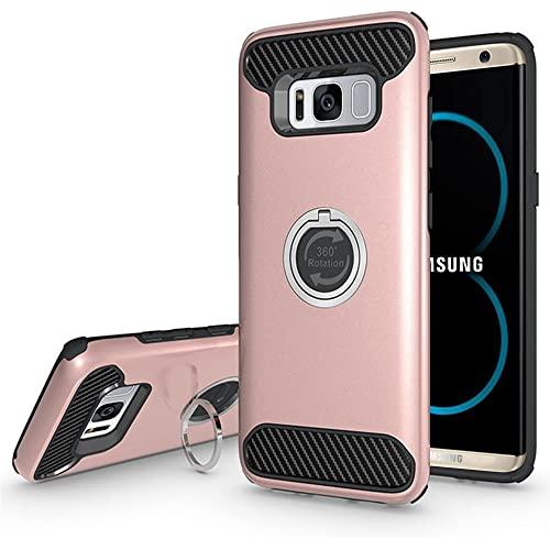 Samsung Galaxy S8 Plus Shockproof Hybrid 360 Ring Stand Case Cover Rose Gold