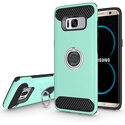 Samsung Galaxy S8 Plus Shockproof Hybrid 360 Ring Stand Case Cover Teal