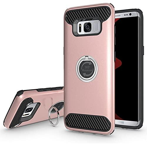 Samsung Galaxy S8 Shockproof Hybrid 360 Ring Stand Case Cover Rose Gold