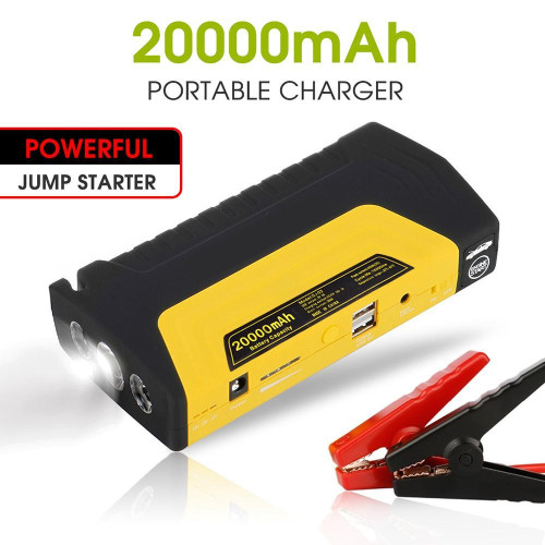 12V Portable 2 Usb Red Car 20000Mah Power Bank Jump Starter Emergency Battery Kit