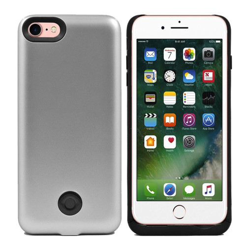 Iphone 8 / 7 External Battery Backup Case Charger Power Bank 3800Mah Silver